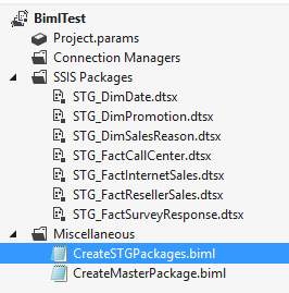SSIS packages