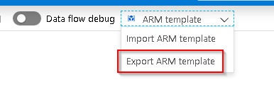 Export ARM template